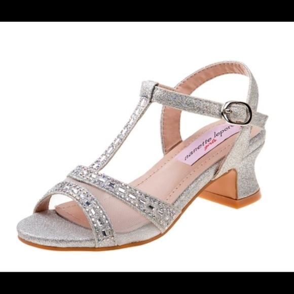 76d3ab6666d8c Nanette Lepore Girls Dress Sandals 12-3 NWT